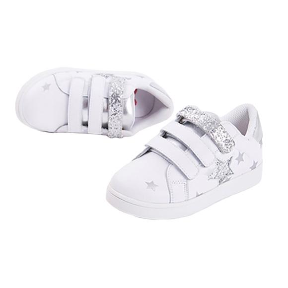 toddler girl white velcro sneakers